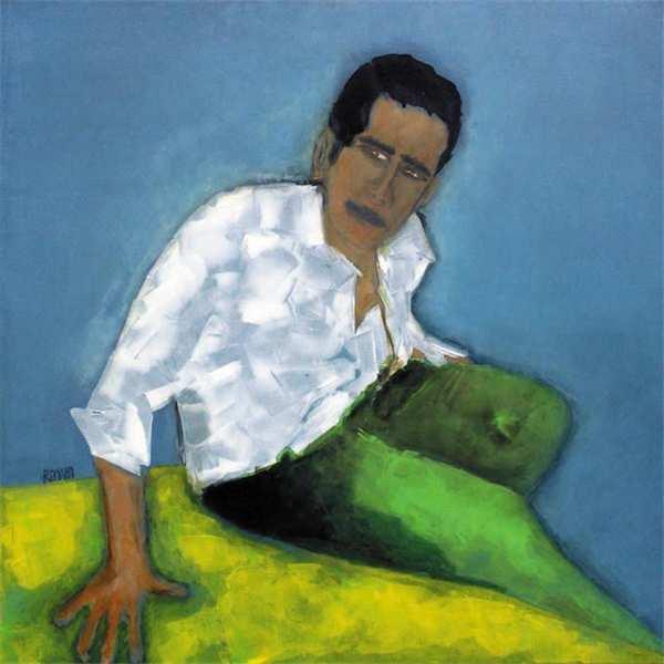 hombre sentado acrilico daniel romano